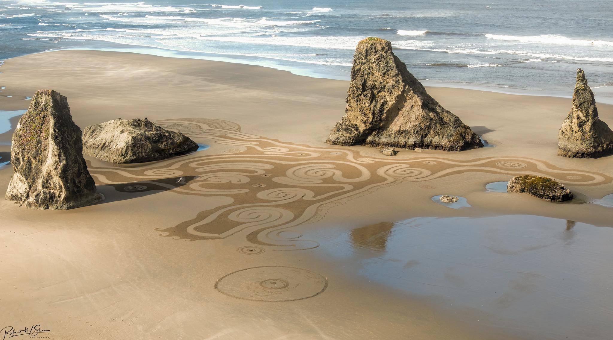 Oregon Coast Sand Maze