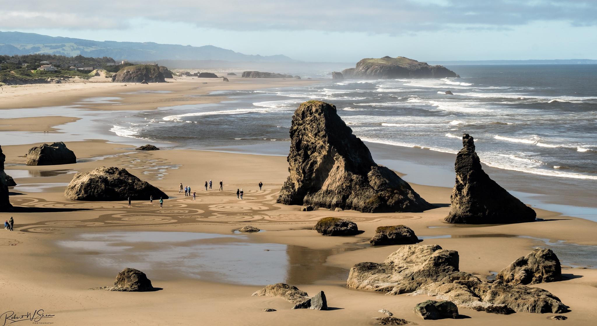 Oregon Coast Sand Labyrinth