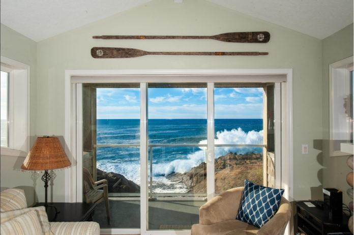 Depoe Bay Rental With A View Pacific Ocean Sunset Oregon Coast