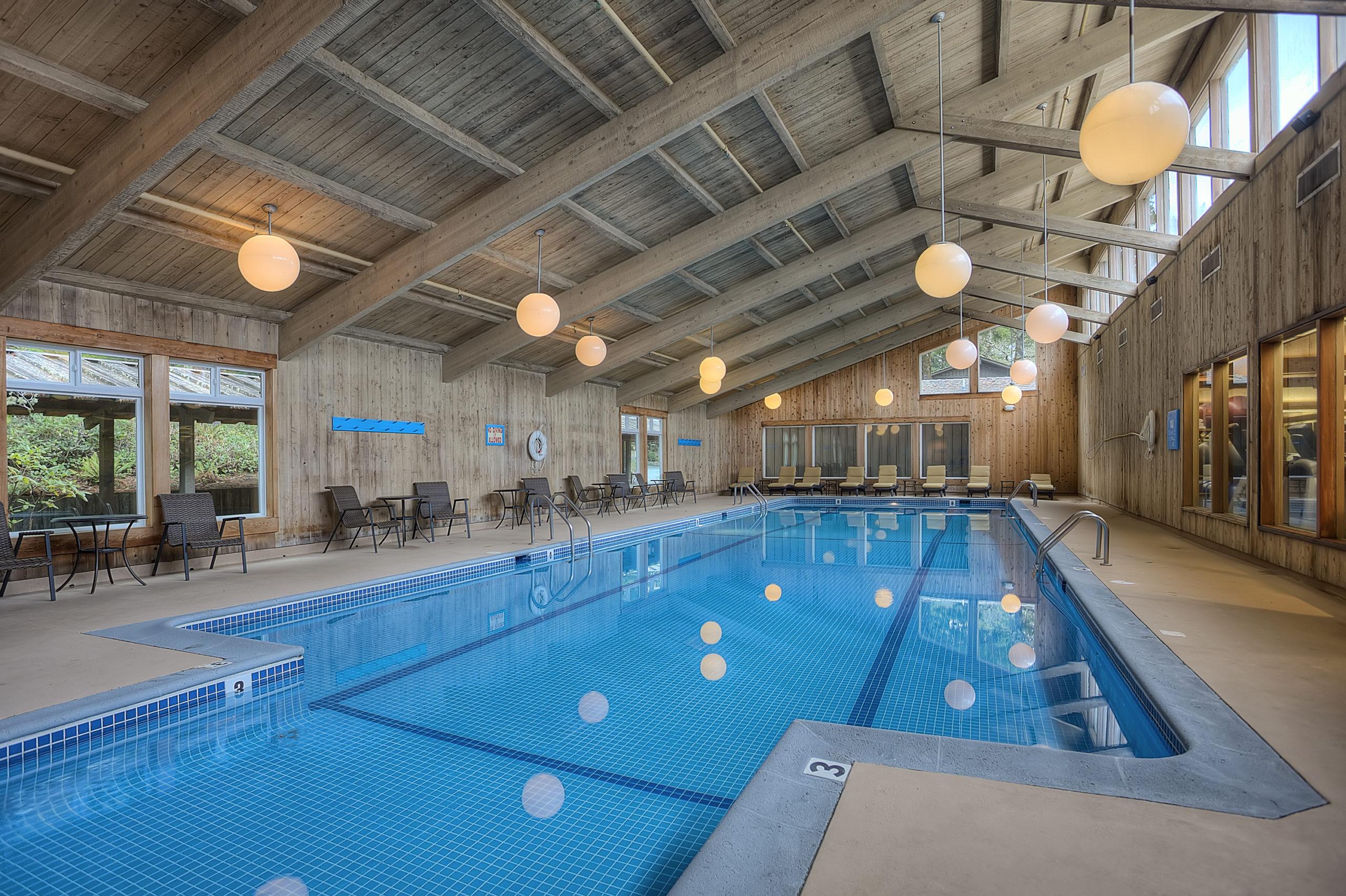 Indoor pool resort hotel Salishan Lincoln City Oregon Coast