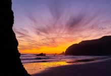 Oregon Coast Sunset at Cape Blanco Lighthouse