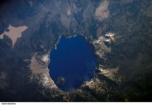 Crater lake as seen from outerspace