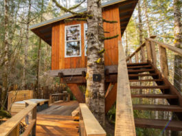 photo of a treehouse in Langlois Oregon