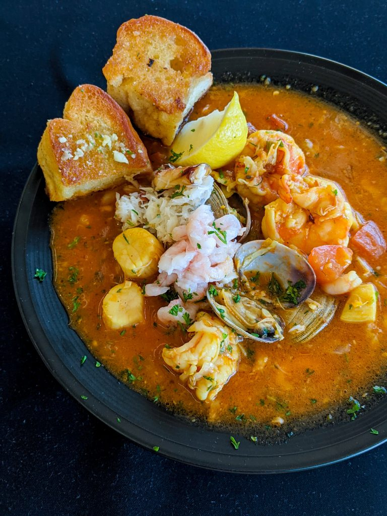 A plate of delicious looking seafood