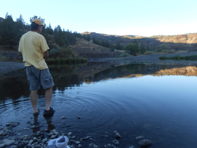 Fishing at Stellar Cabin