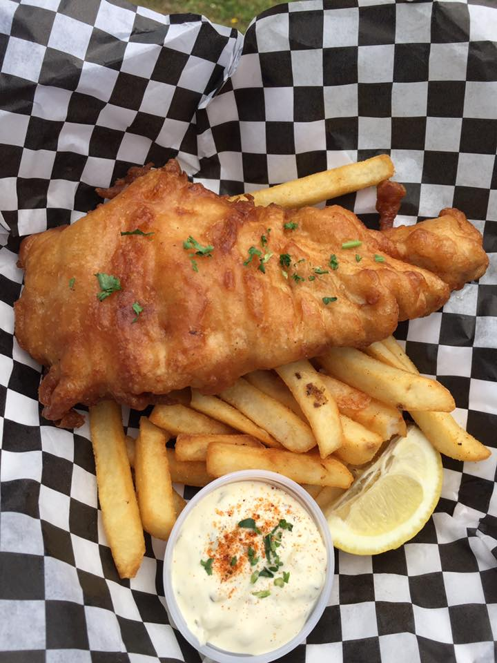 Delicious looking fish and chips at The Sea Baron.