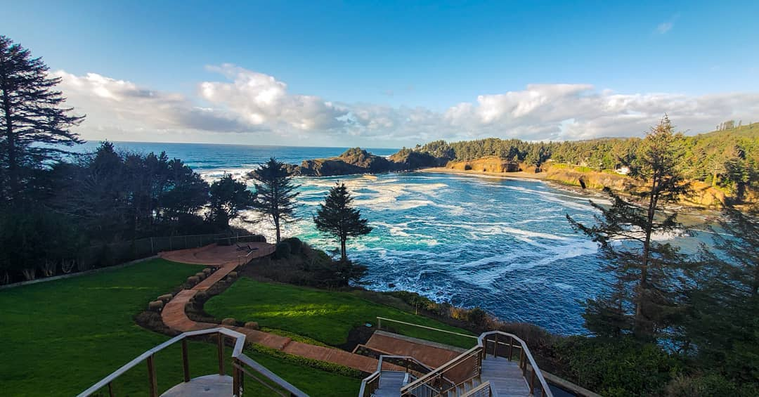 stunning ocean view whale cove depoe bay oregon
