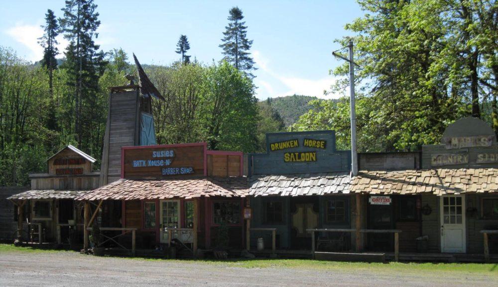 ghost town facade of short bridge foster oregon