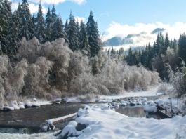 breitenbush river oregon winter