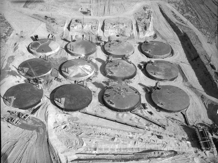 concrete storage tanks at hanford washington