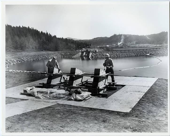 scoggins valley dam construction